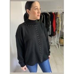 Jersey apliques negro