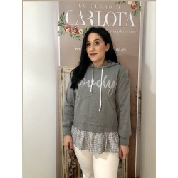 Sudadera lovely gris